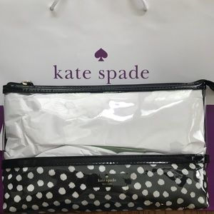 Kate Spade Catie polka dot makeup bag